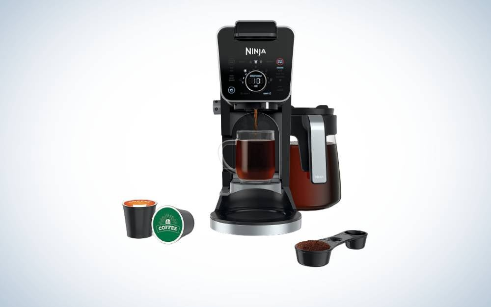 The Ninja DualBrew is the best single-serve coffee maker that has a large capacity.