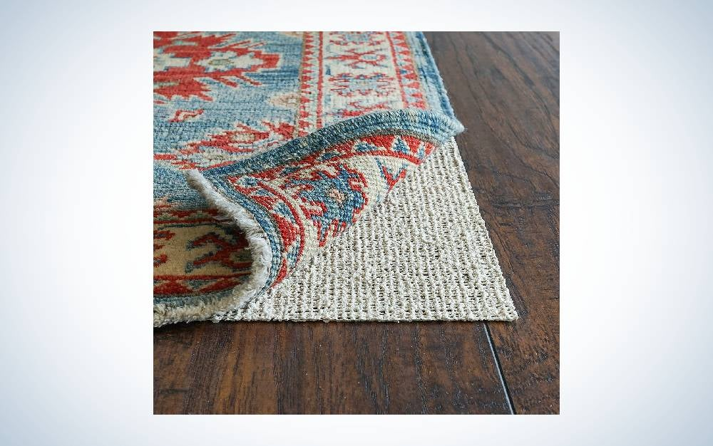 The RUGPADUSA Nature's Grip Rubber and Jute Non-Slip Rug Pad is the best rubber rug pad.