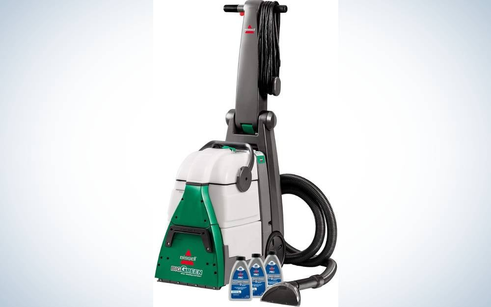 The Bissell Big Green Carpet Cleaner is our pick for the best heavy-duty carpet cleaner machine.