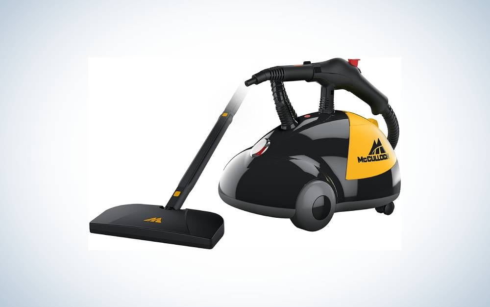 The McCulloch Heavy-Duty Steam Cleaner is our pick for the best steam carpet cleaner machine.