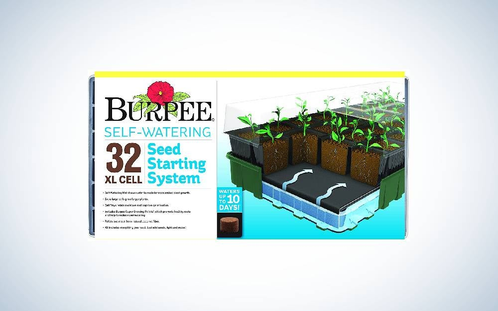 The Burpee Seed Starter Tray is the best with watering mat seedling starter tray.