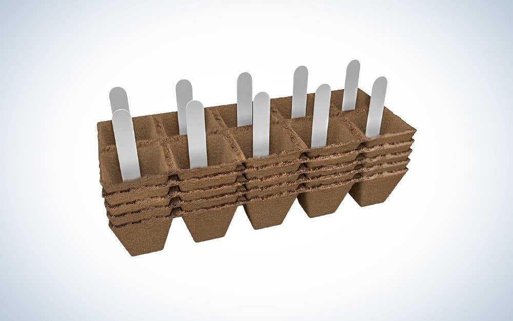 JOLLY GROW Seed Starter Peat Pots Kit are the best biodegradable seedling starter trays.