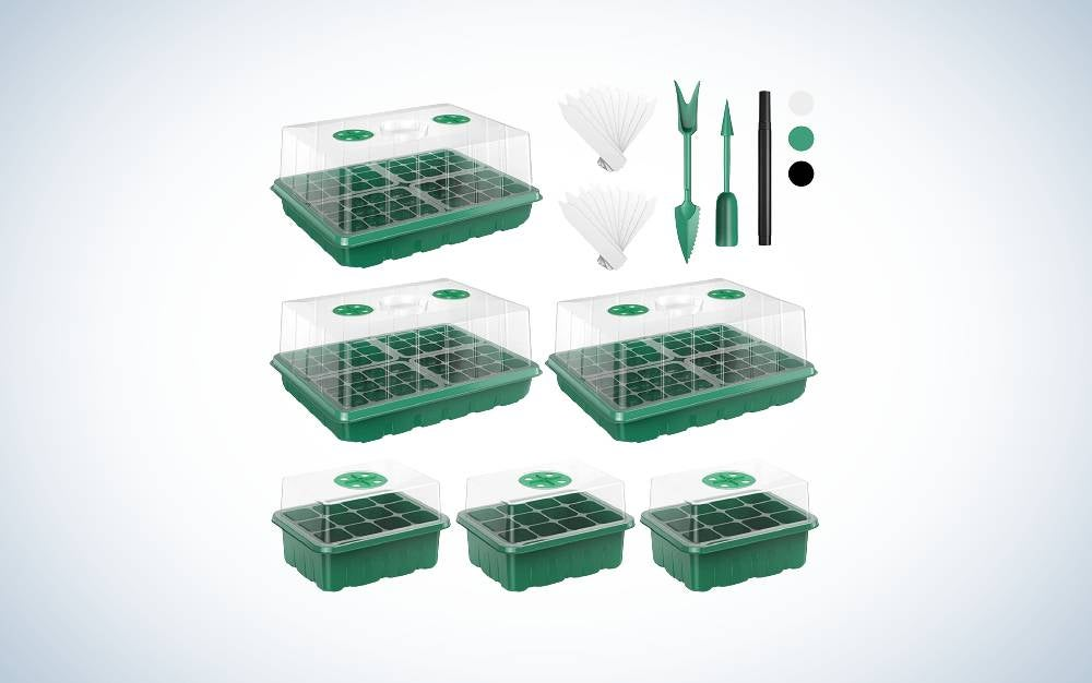 The VpnDiyp 180 Cells Seed Starter Tray is the best value seedling starter tray.